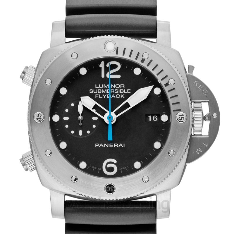 Panerai Luminor Submersible Chrono Automatic Black Dial 47 mm Men's Watch