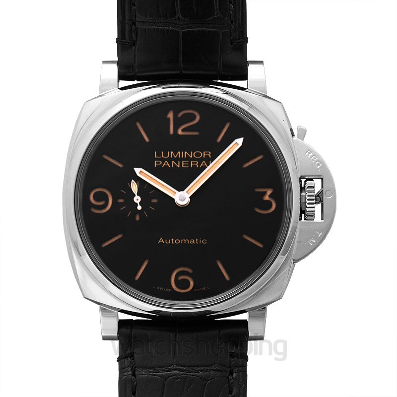 Panerai Luminor Due Automatic Black Dial 45 mm Men's Watch
