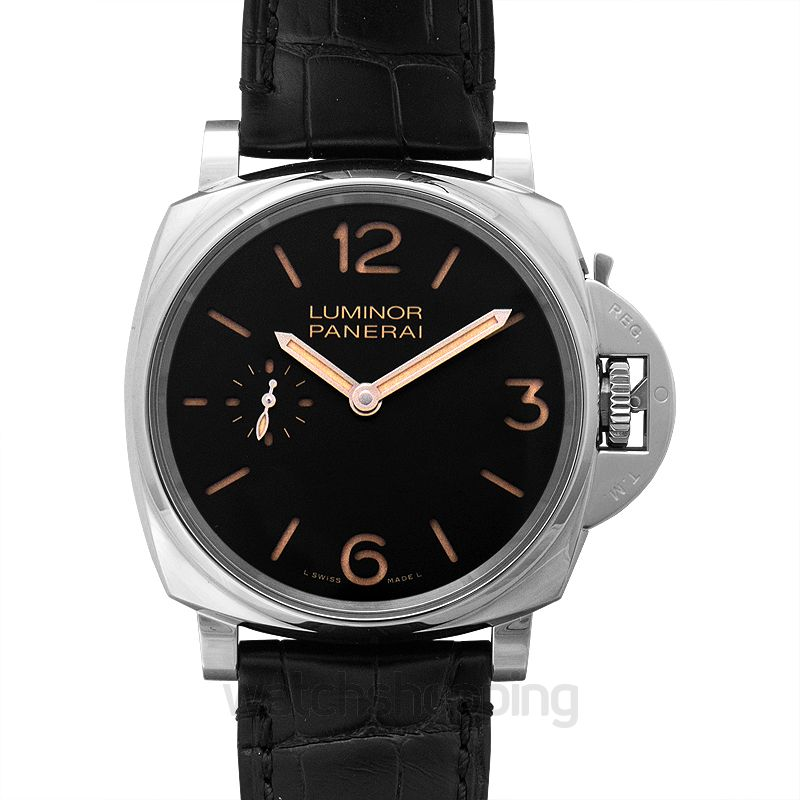 Panerai Luminor Due Manual-winding Black Dial Men's Watch