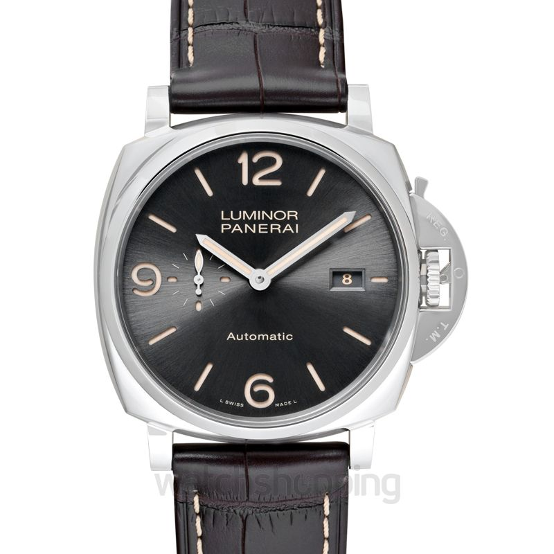 Panerai Luminor Due Automatic Grey Dial 45 mm Men's Watch
