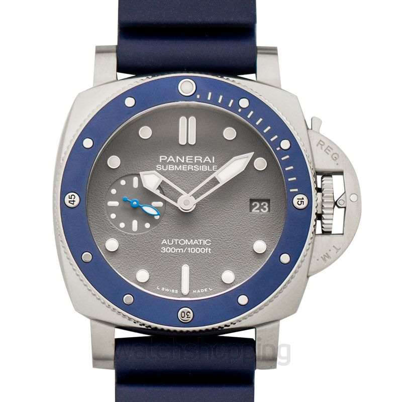 Panerai Submersible 42 mm 3 Days Automatic Grey Dial Men's Watch