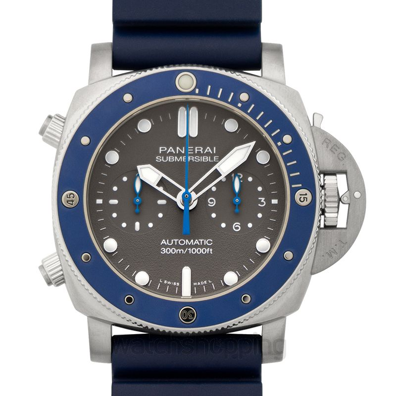 Panerai Submersible Chrono Guillaume Nery Edition 47mm Automatic Grey Dial Men's Watch