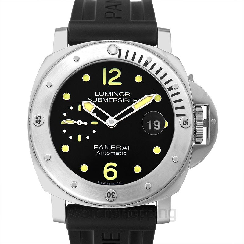 Panerai Luminor Submersible Automatic Black Dial 44 mm Men's Watch