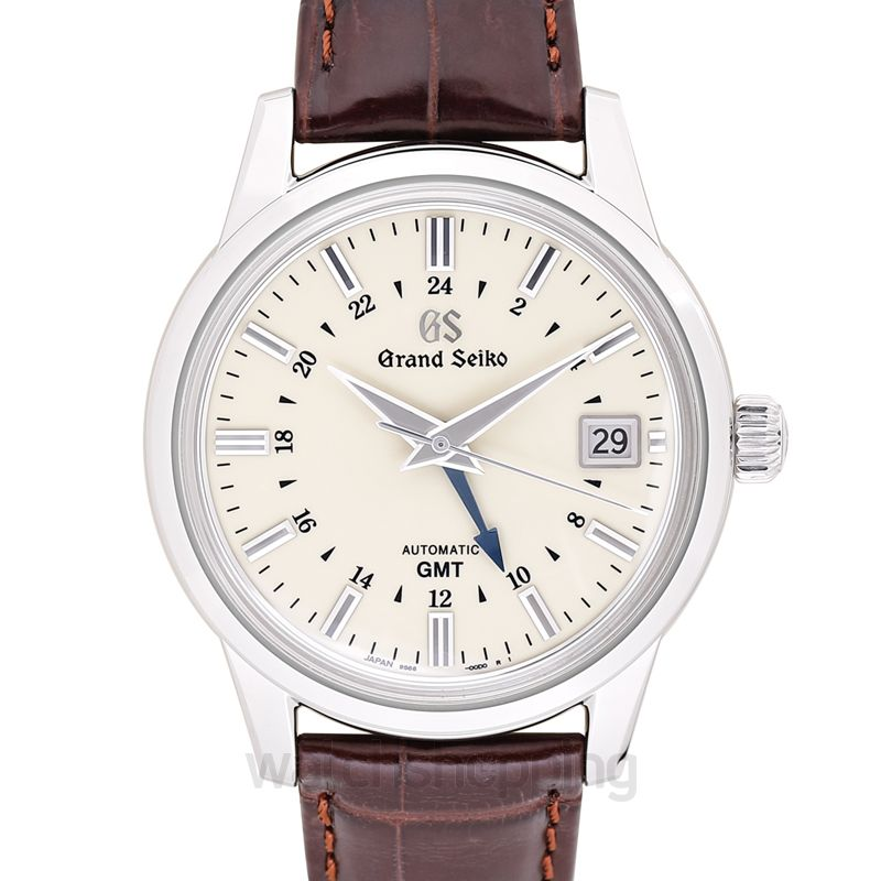 Grand Seiko Automatic Hi Beat 36000 GMT Stainless Steel / Silver / Strap
