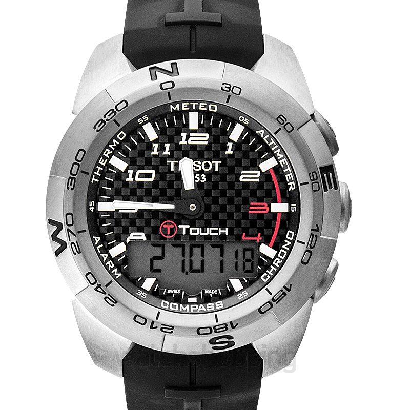 Tissot Touch Collection T-Touch Expert Titanium Quartz and Digital Black Dial Men's Watch