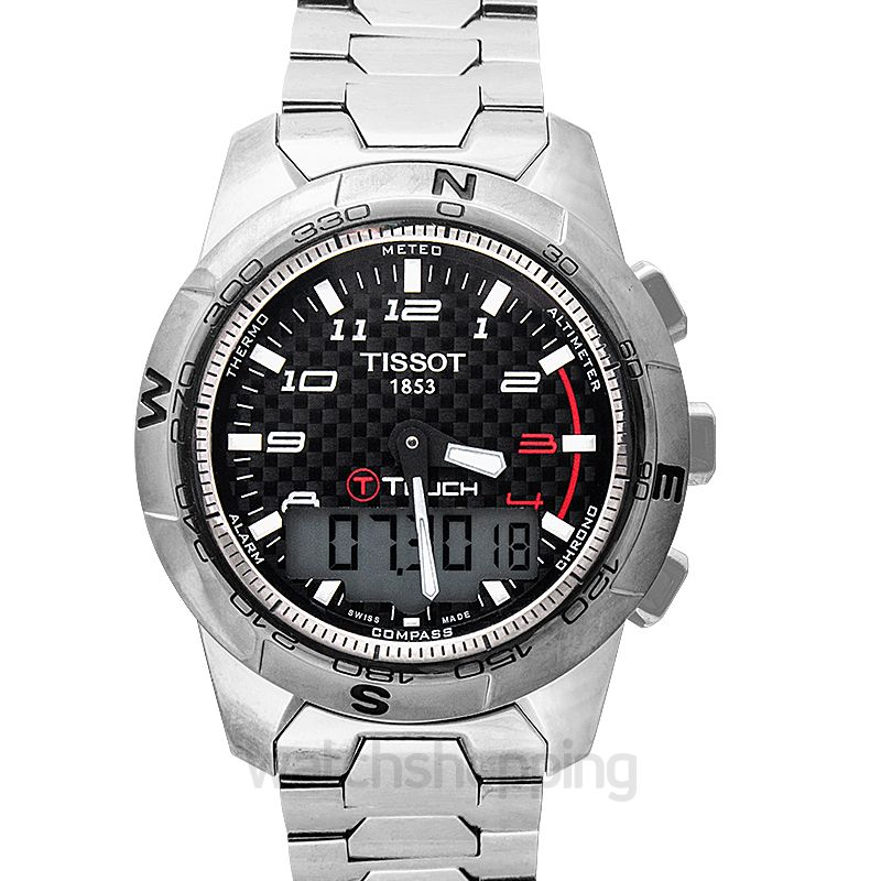 Tissot Touch Collection T-touch II Titanium Analog-Digital Black Dial Men's Watch