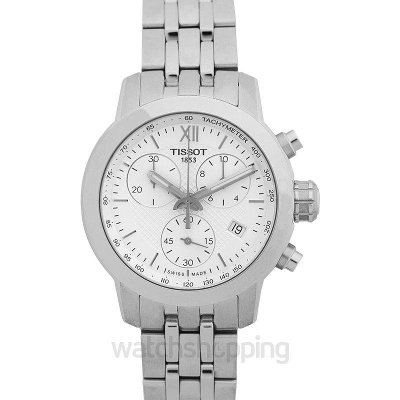 Tissot Tissot PRC200 Chronograph White Dial Stainless Steeel Ladies Watch