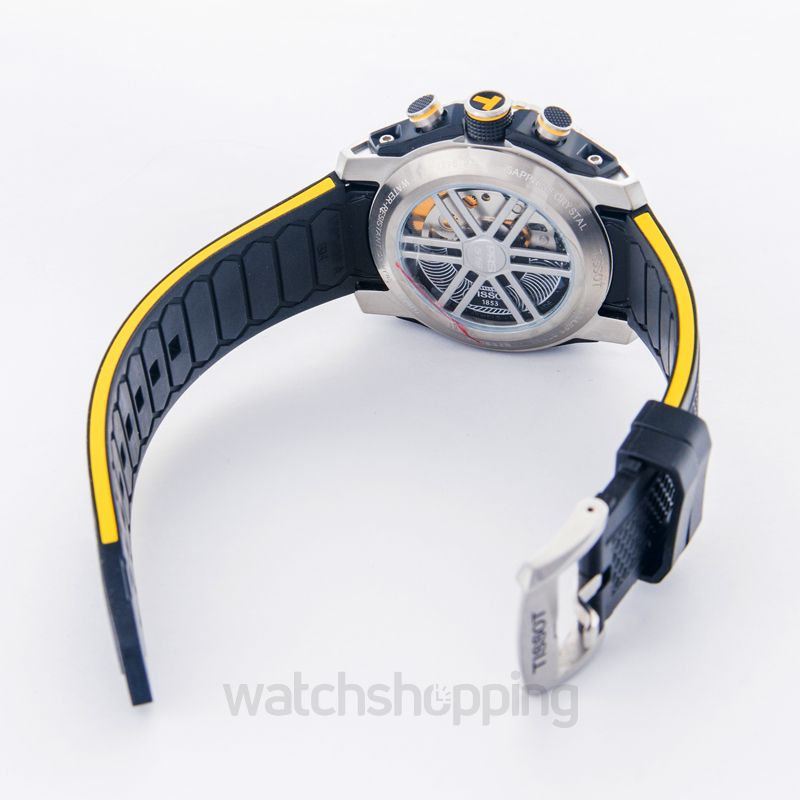 66cc16a62f2 New Tissot PRS 516 Extreme Automatic Yellow T079.427.27.057.01 T ...