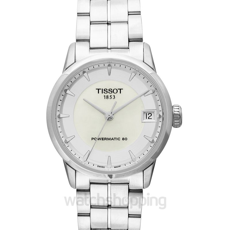 Tissot T-Classic Luxury Powermatic 80 Lady Automatic Mother Of Pearl Dial Ladies Watch