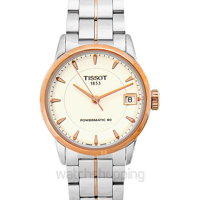 Tissot T-Classic Luxury Powermatic 80 Lady Automatic Ivory Dial Ladies Watch