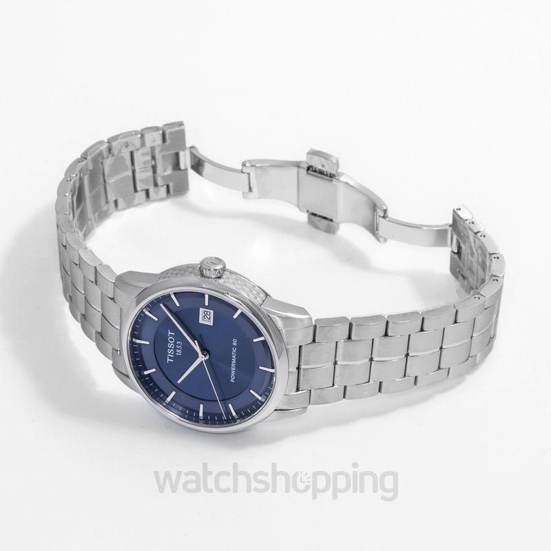 2f7aadd9cf5d New TISSOT LUXURY POWERMATIC 80 BLUE DIAL STEEL T0864071104100  T086.407.11.041.00 Tissot Luxury Watch