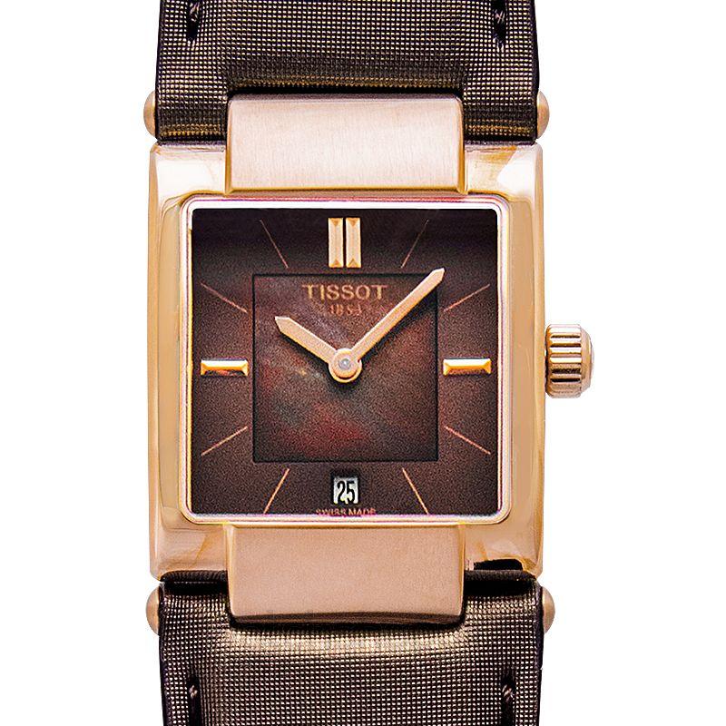 Tissot T02 Brown Mother of Pearl Dial Ladies Watch