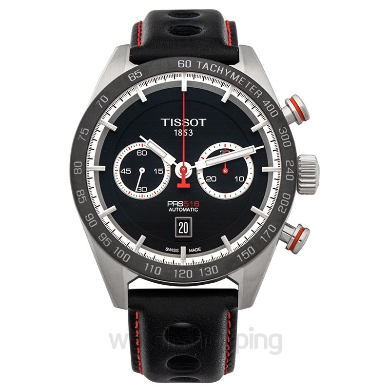 Tissot T-Sport PRS 516 Automatic Chronograph Black Dial Men's Watch