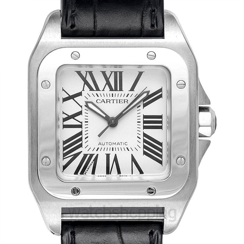 2da6e3b5b New Cartier Santos 100 Stainless Steel Medium Watch W20106X8 Santos ...