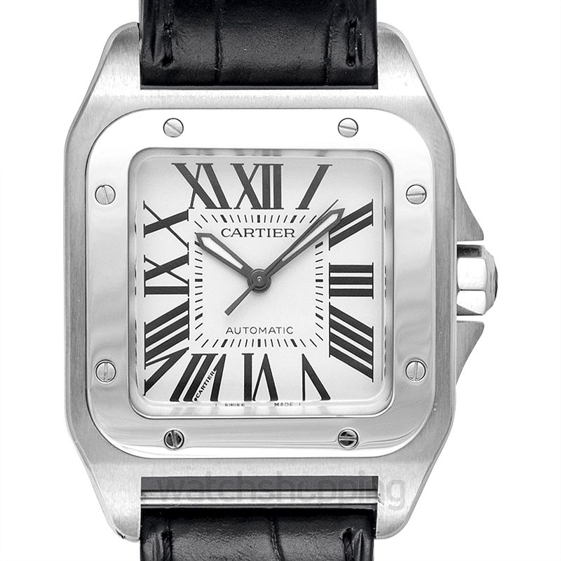 Cartier Santos de Cartier 35.6 mm Automatic Mother of pearl Dial Stainless Steel Unisex Watch