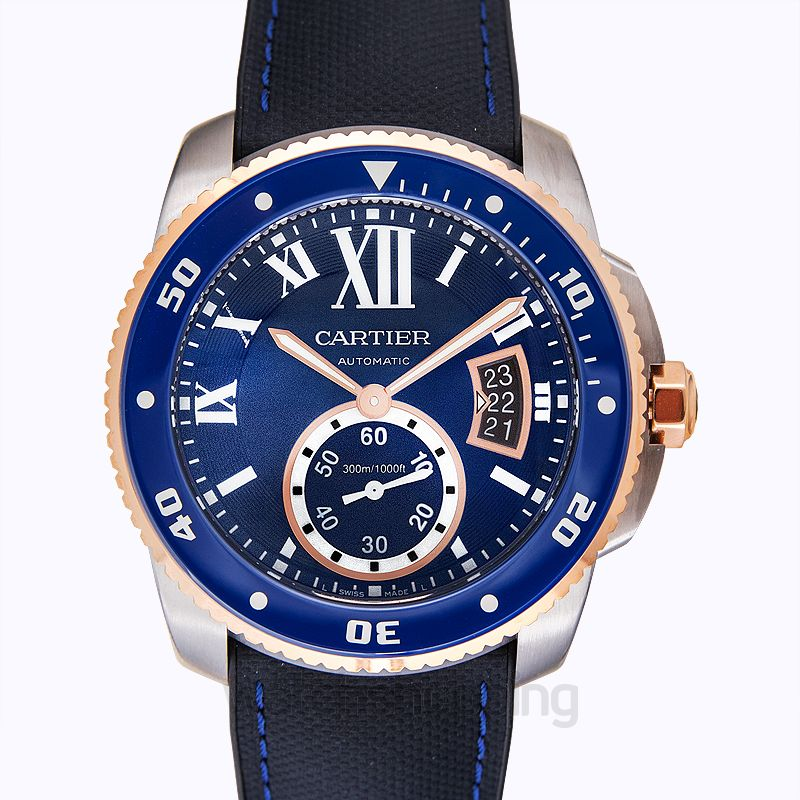 Cartier Calibre de Cartier Automatic Blue Dial Men's Watch