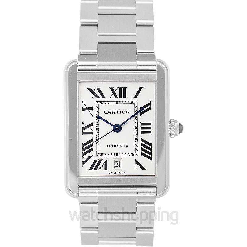 Cartier Tank Automatic Silver Dial Men's Watch