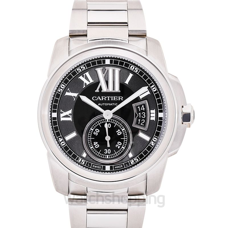Cartier Calibre de Cartier 42.00 mm Automatic Black Dial Stainless steel Men's Watch