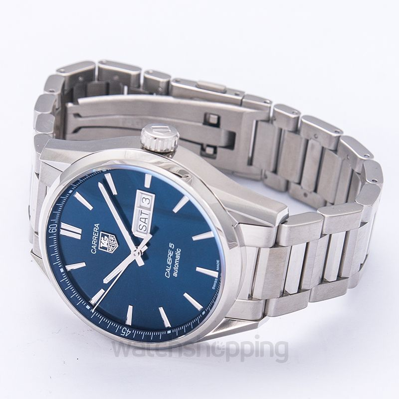 c2efab2d00a New TAG Heuer Carrera Blue Dial Stainless Steel Men's Watch WAR201E ...