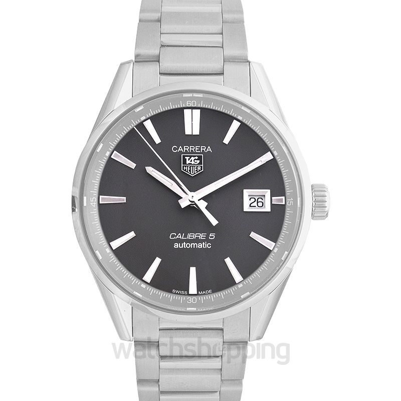 TAG Heuer Carrera Calibre 5 Automatic Grey Dial Men's Watch