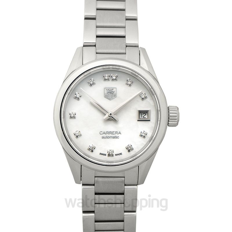 Carrera Calibre 9 Automatic White Dial With Diamonds Ladies Watch