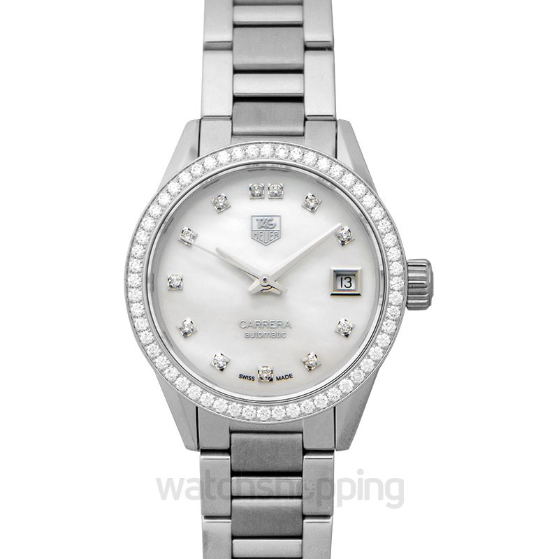 Carrera Calibre 9 Automatic Mother Of Pearl Dial With Diamonds Ladies Watch
