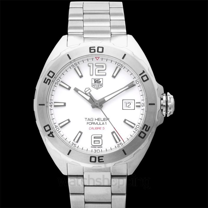TAG Heuer Formula 1 Calibre 5 Automatic White Dial Men's Watch