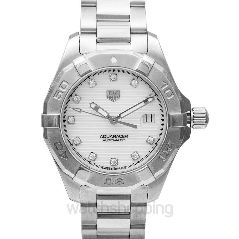 Aquaracer Calibre 9 Automatic White Dial With Diamonds Ladies Watch