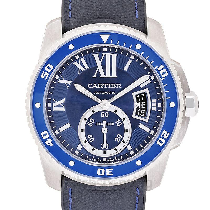 Cartier Calibre de Cartier 42.00 mm Automatic Blue Dial Stainless steel Men's Watch