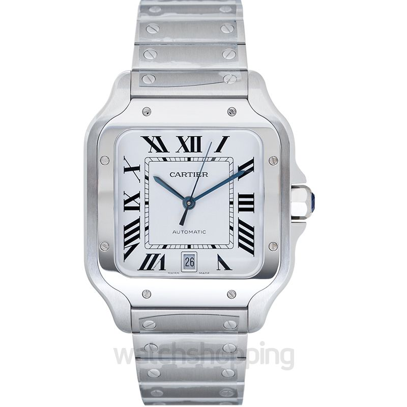 Cartier Santos de Cartier Automatic Mother of pearl Dial Men's Watch