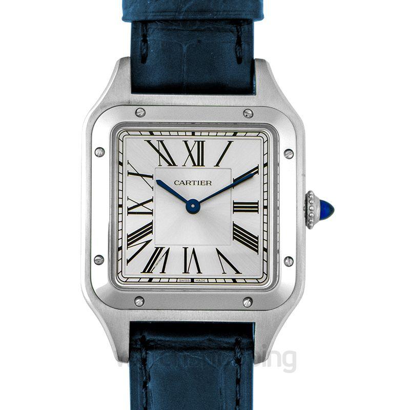 Cartier Santos-Dumont 43.5 mm Quartz Silver Dial Men's Watch