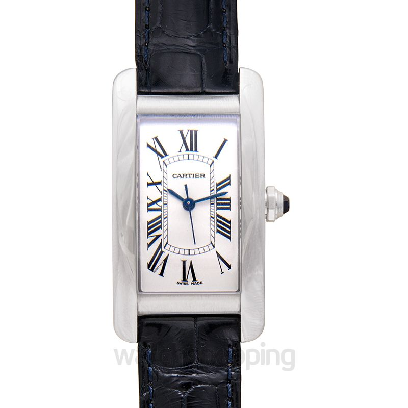 Cartier Tank Américaine 41.60 mm x 22.60 mm Automatic Silver Dial Stainless Steel Ladies Watch