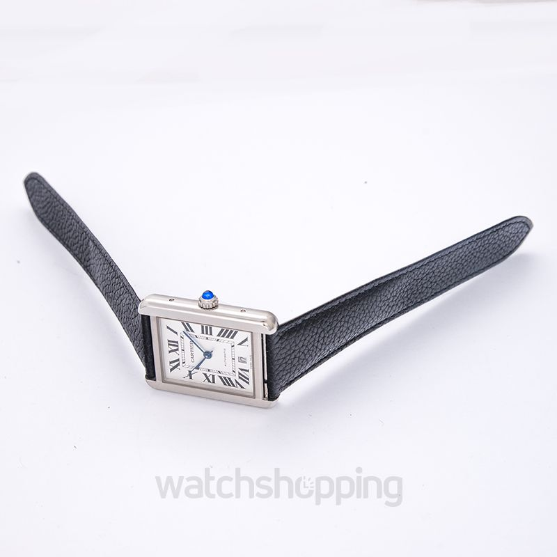 Cartier Tank Solo 31 mm x 40.85 mm Automatic Silver Dial Stainless Steel Men's Watch