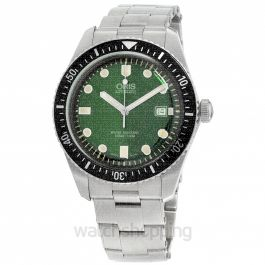 Divers Sixty-Five Automatic Green Dial Men's Watch