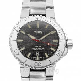 Aquis Date Relief Automatic Grey Dial Men's Watch