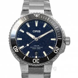 Aquis Date Automatic Blue Dial Men's Watch
