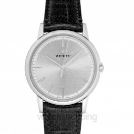 ELITE Classic Silver Steel/Leather 39mm