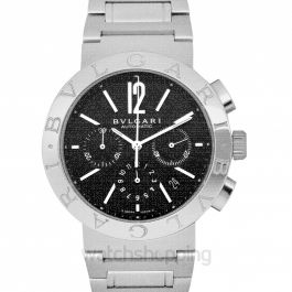 Bvlgari Chronograph Automatic Black Dial Stainless Steel Men's Watch/42mm BB42BSSDCH