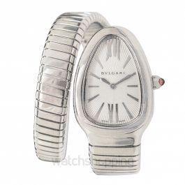 Bvlgari Serpenti Silver Dial Stainless Steel Ladies Watch101817