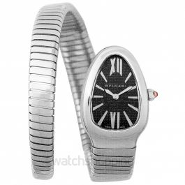 Serpenti Tubogasl Quartz Black Dial Ladies Watch