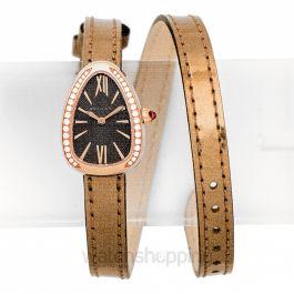 Serpenti Quartz Grey Dial Diamond Bezel Ladies Watch