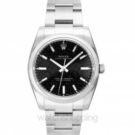 Rolex Oyster Perpetual Automatic Black Dial Ladies Watch 114200BKSO