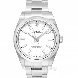 Rolex Oyster Perpetual Automatic White Dial Men's Watch 114300WSO