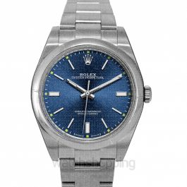 Rolex Oyster Perpetual 39 Automatic Blue Dial Men's Watch 114300BLSO