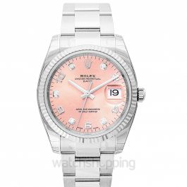 Datejust Date 34 Pink 18k White Gold/Steel 34mm