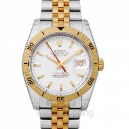 Datejust 36mm-Steel and Gold Pink Gold-Turn-O-Graph-Jubilee/White