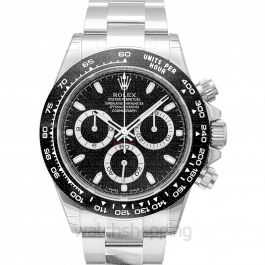 Cosmograph Daytona Steel Automatic Black Dial Oyster Bracelet Men's Watch