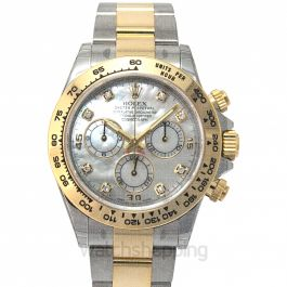 Cosmograph Daytona 18ct Yellow Gold Automatic Mother Of Pearl Dial Diamonds Men's Watch