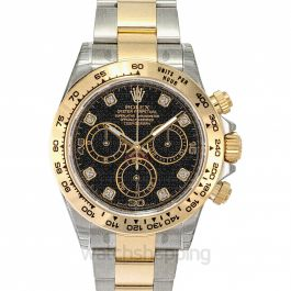 Cosmograph Daytona Stainless Steel / Yellow Gold / Black Diamond
