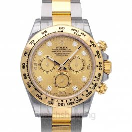 Cosmograph Daytona 18ct Yellow Gold Automatic Champagne Dial Diamonds Men's Watch